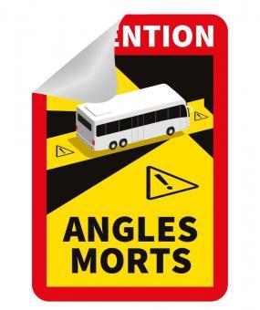 Angles Morts Aufkleber ablösbar Bus