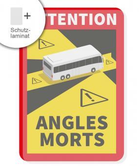 Bus Angles Morts Aufkleber festklebend mit Schutzlaminat